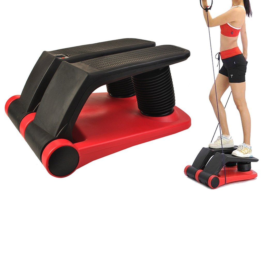OUTAD Portable Air Stepper Climber with DVD, Bands and LCD Display for Home Workout Gym -As Seen On TV (red)