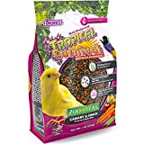 Tropical Carnival F.M. Brown's Zoo-Vital Canary & Finch Pellet Daily Diet with Probiotics for Healthy Digestion, 1-lb Bag - Grain-Free, Rice-Based Formula, 100% Edible, Prevents Selective Eating