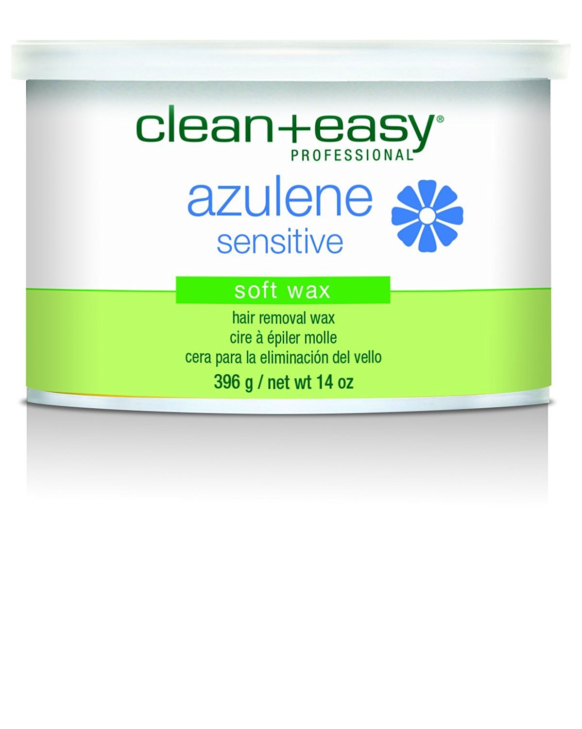 Clean + Easy Hair Removal Soft Wax, Azulene and Chamomile Sensitive Formula, 14-Ounce