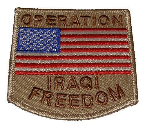 (OIF OPERATION IRAQI FREEDOM WITH USA FLAG PATCH - Color - Veteran Owned Business)