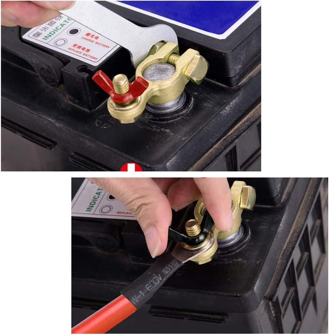 ZHITING 4pcs Bornes de Batterie de Voiture Connecteurs de Batterie Cosse Battery Terminal avec /Écrou /à Oreilles pour Auto Positive et N/égative
