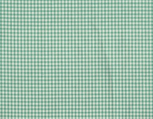 French Country Gingham Check Pool Blue-Green Ruffled King Shams Pair, Lined Cotton