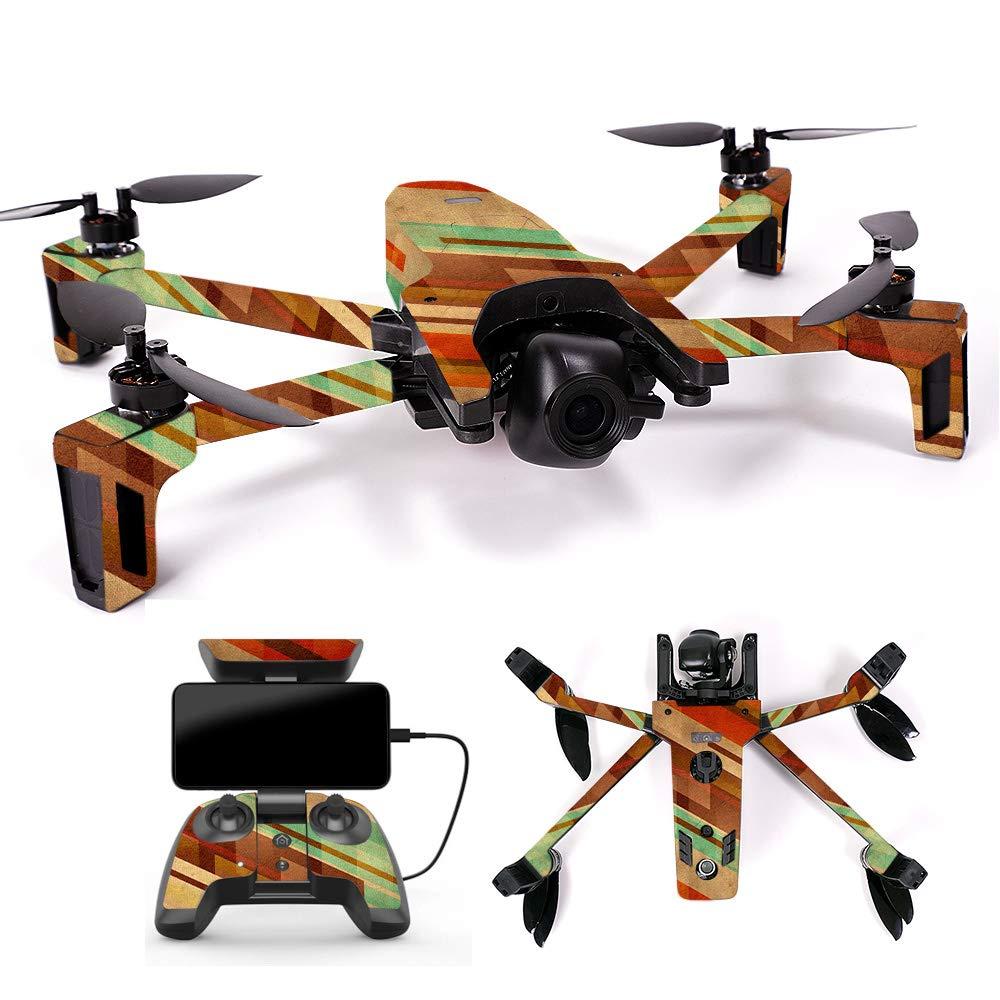 MightySkins スキンデカール ラップ Parrot Anafi Drone用 ステッカー 抽象画 木製, Full Drone & Controller Coverage, PAANA-Island Fish B07H7R69GB Full Drone & Controller Coverage|Abstract Wood Abstract Wood Full Drone & Controller Coverage