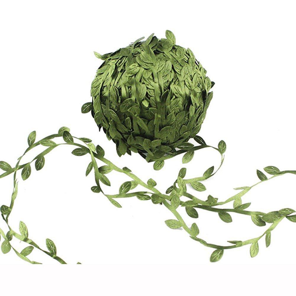GreeStore 40 m Plantes synth/étiques /à suspendre Plantes grimpantes synth/étiques Feuilles vertes synth/étiques sur un ruban en soie Guirlandes de lierre