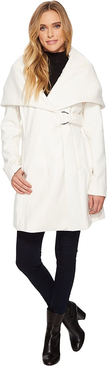French Connection Womens Marla Coat w/D-Ring Belt