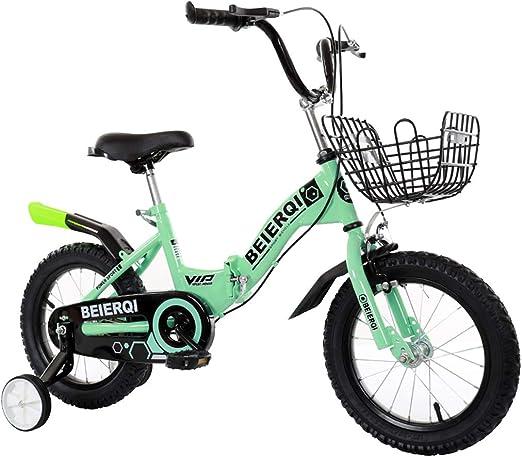 Bicicleta para niños de 2 a 12 años Plegable con Freno 12/14/16/18 ...