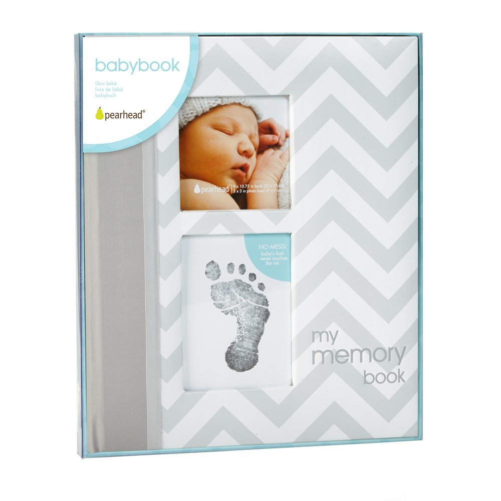 amazon com pearhead first 5 years chevron baby memory book with