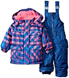 Rugged Bear Baby Girls' Plaid Snowsuit, Navy, 24 Months