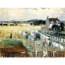 The Museum Outlet - 1875 Berthe Morisot Un percher de blanchisseuses PEINTURE HUILE SUR TOILE - Canvas (Medium)