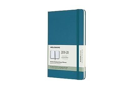 Moleskine 2019-20 Weekly - Agenda Cuaderno Semanal de 18 Meses 2019/2020, Verde Magnético, Tamaño Grande 13 x 21 cm, 208 Páginas