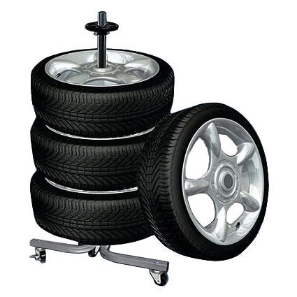 Rolling Tire Storage Rack Best Amazon Tire Wheel Rack Storage Holder Heavy Duty Garage Trolley