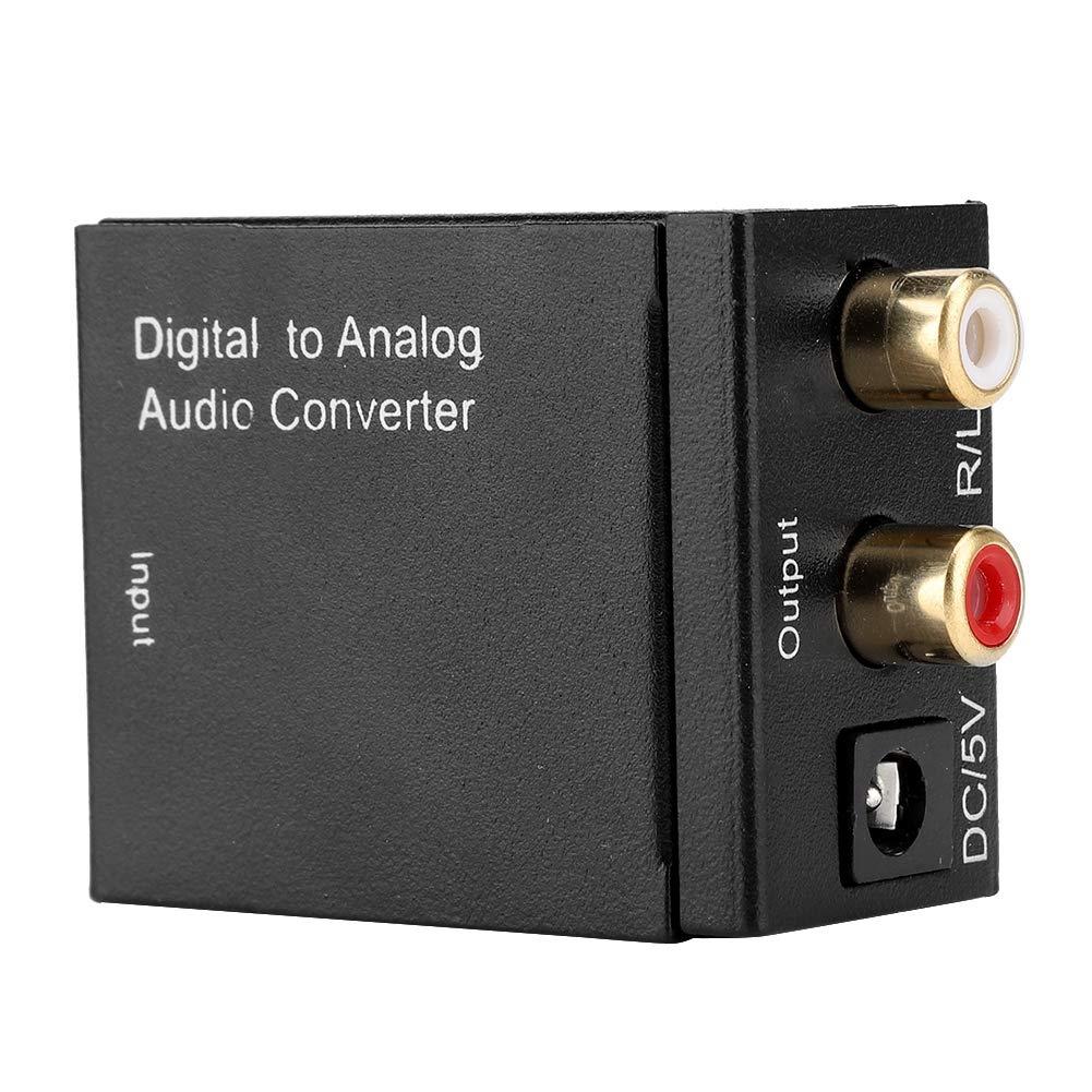 Dual Chip Coaxial /óptico digital a anal/ógico RCA convertidor de audio con cable coaxial USB Convertidor digital a anal/ógico