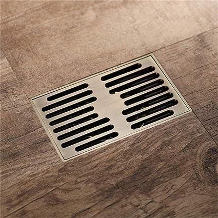 Peachy Small Household Floor Drain Rectangle Deodorant Bronze Color Download Free Architecture Designs Fluibritishbridgeorg