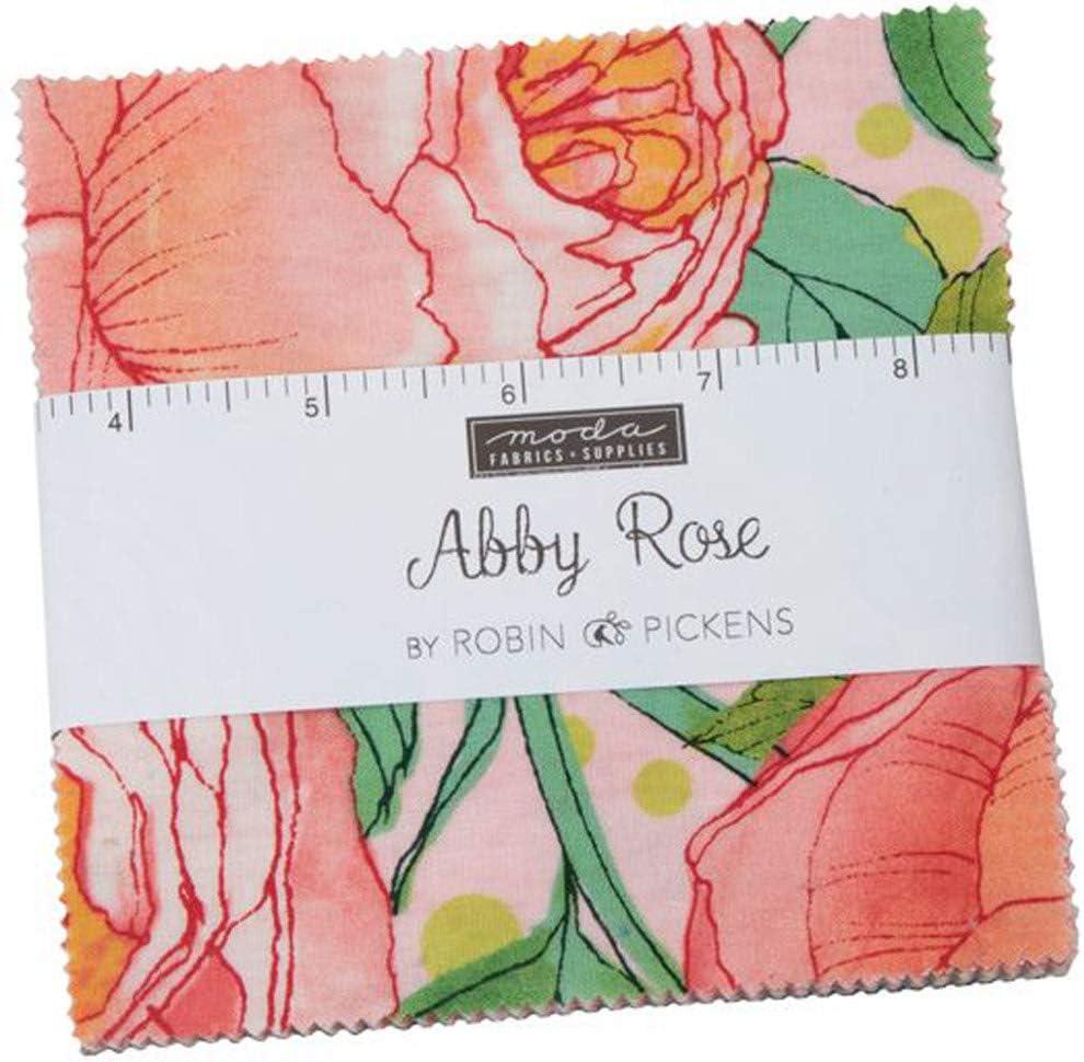 Abby Rose Charm Pack por Robin Pickens; Cuadrados de tela ...