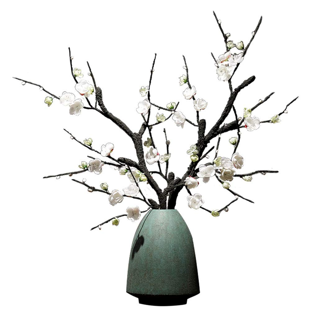 花瓶ファッションセラミック花瓶リビングルームの装飾花瓶ドライフラワー花瓶装飾ホームクリエイティブ花瓶景徳鎮セラミック花瓶 (Color : GREEN, Size : 17X22CM) B07RXQFN62 GREEN 17X22CM