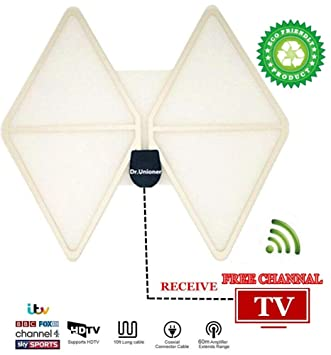 Indoor TV Aerial, Detachable Amplifier Signal Booster: Amazon co uk