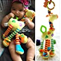 Infant Baby Development Soft Giraffe Animal Handbells Rattles Handle Toys LO by Thailand that we recomend personally.