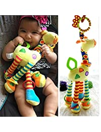Infant Baby Development Soft Giraffe Animal Handbells Rattles Handle Toys LO BOBEBE Online Baby Store From New York to Miami and Los Angeles