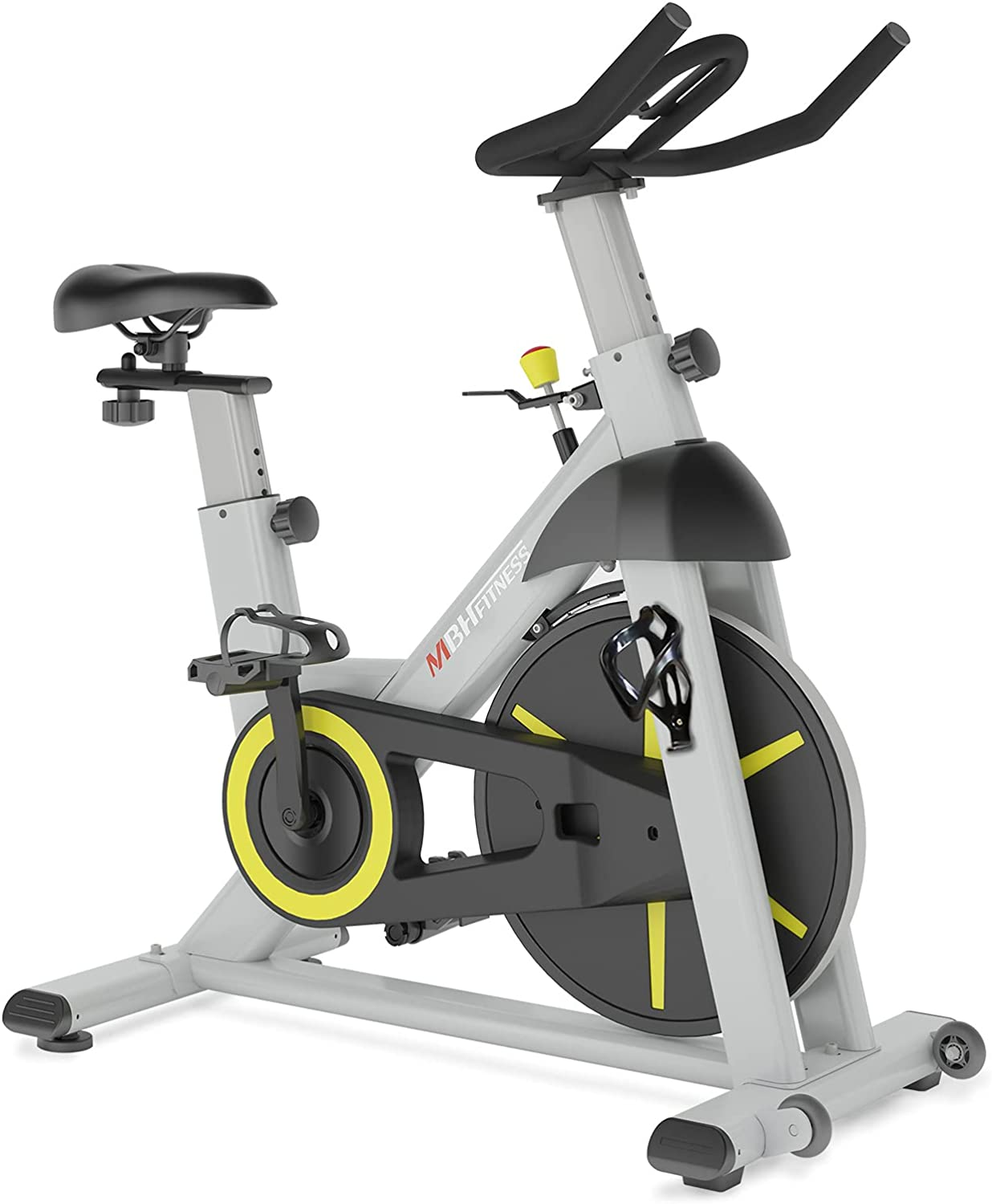 MBH Fitness Magnetic Exercise Bike Stationary, Indoor Cycling Bike for Home Gym Use, Fitness App, 330Lbs Weight Capacity, Tablet Holder, Bottle Holder, Quiet Cardio Workout Equipment