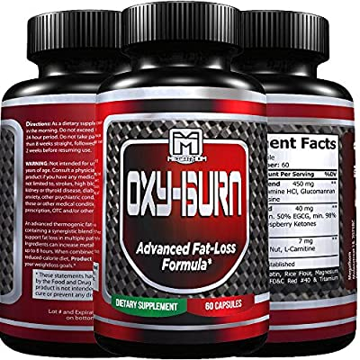 OXY BURN Premium quality Natural Fat Burner and Muscle Builder for Men and Women (60 capsules) USA premium quality 100% Guarantee!