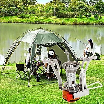 Tamlltide - Mini estufa de agua para cocinar al aire libre, camping, senderismo,