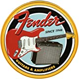 Music Tin Sign featuring the Classic Fender Guitar Since 1946 30x30cm