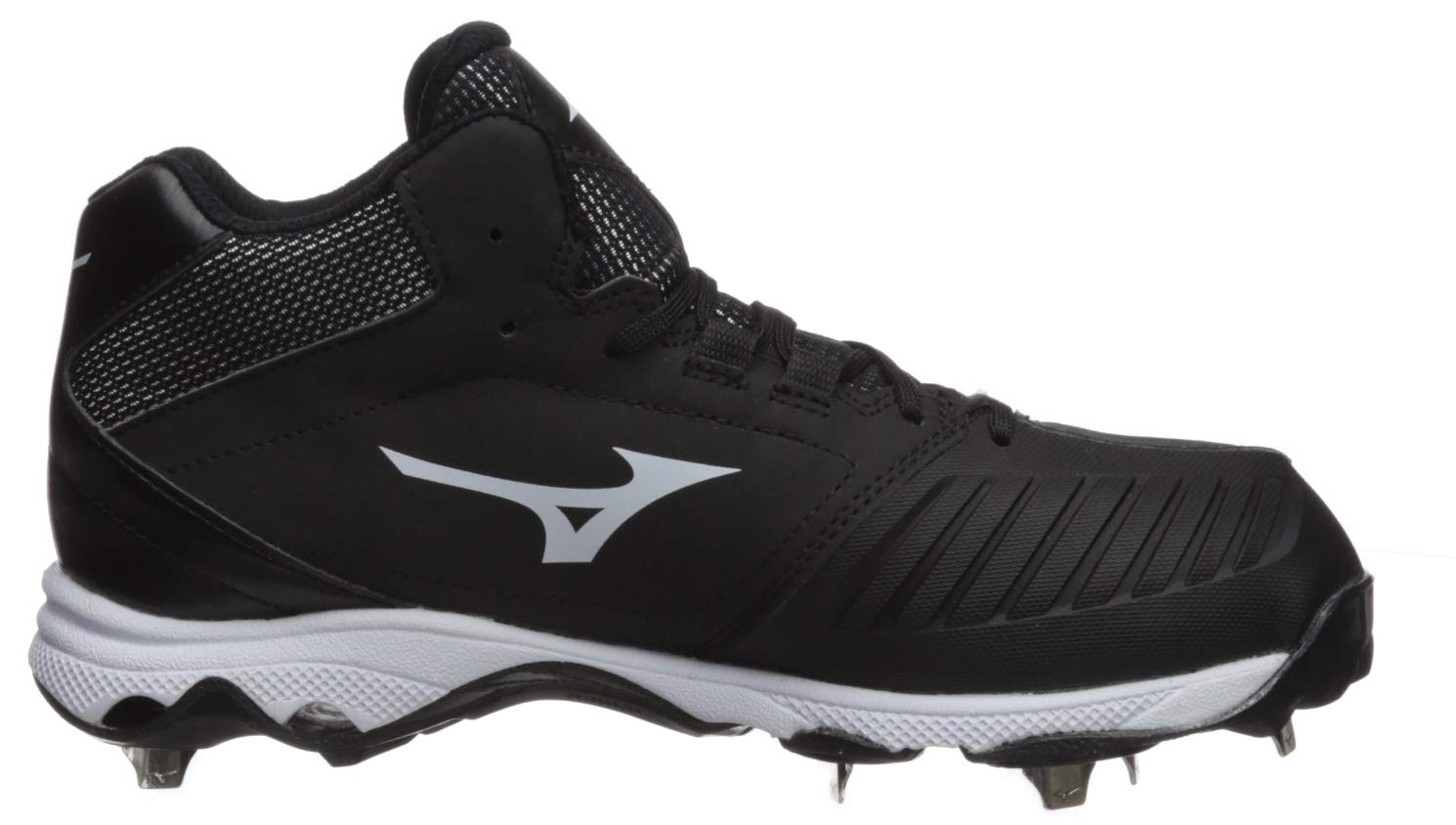 Mizuno Women's 9-Spike Advanced Sweep 4 Mid Metal Softball Cleat Shoe, Black/White 6 B US by Mizuno (Image #6)