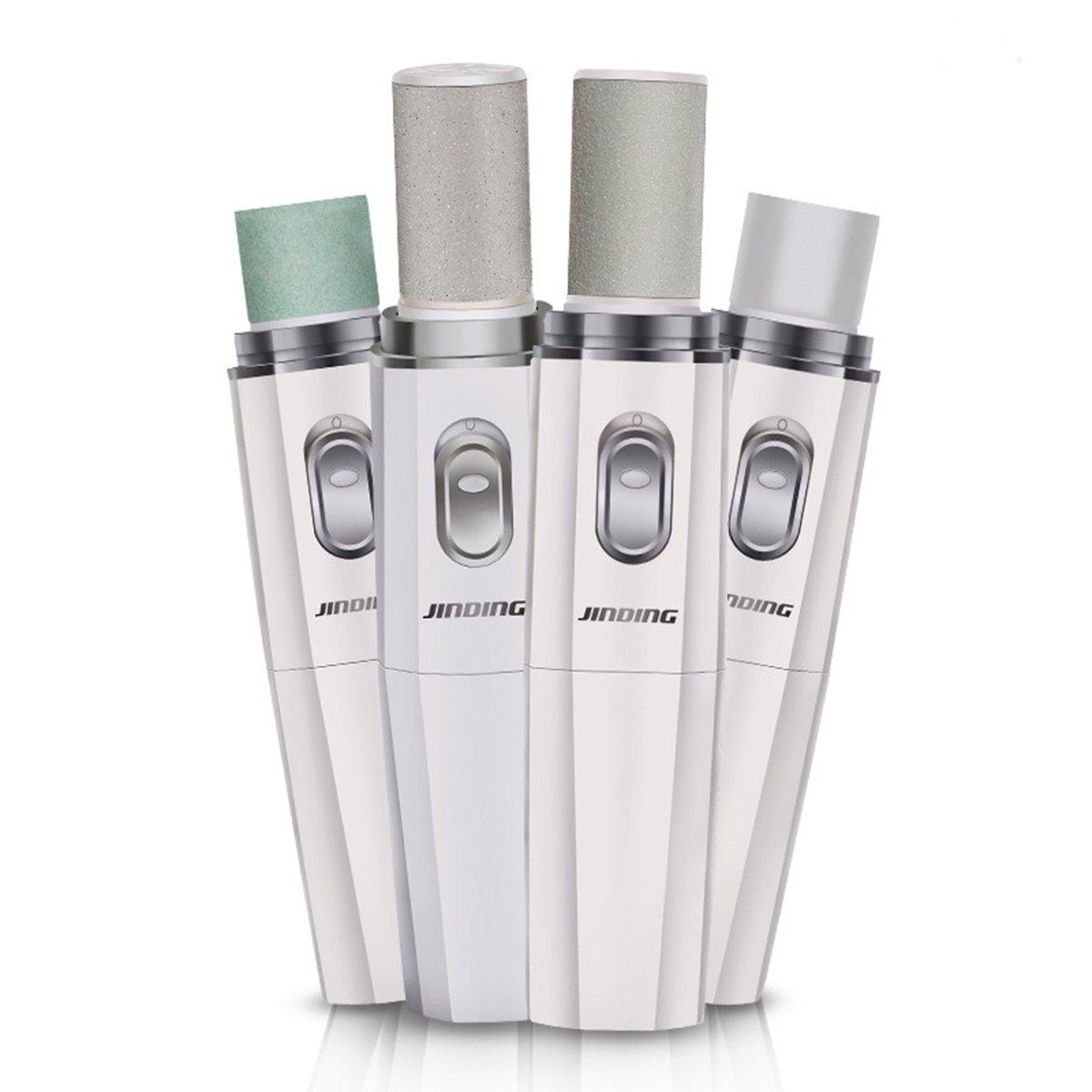 easywin Electric足カルスリムーバーProfessional Nailファイラー&ネイルバッファ&ネイルポリッシャーホームマニキュアツールセットバッテリーPowered ホワイト SJ-605 B01M35SVZ8 ホワイト