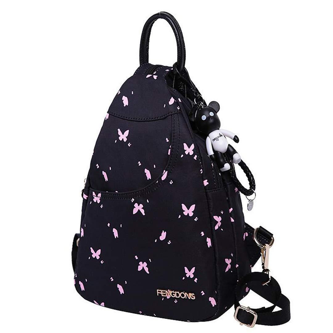 Fashion Small Printing Mini Emoji Travel Women Backpack Multifunction Shoulder Crossbody Bags A