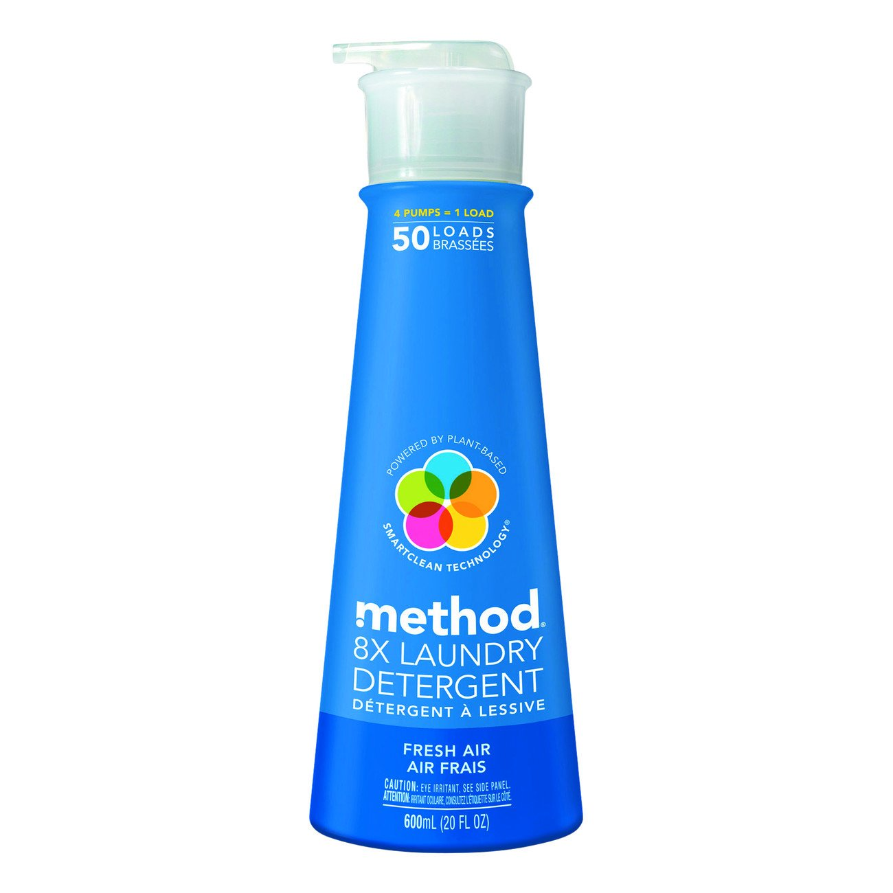 Method 01127CT 8X Laundry Detergent, Fresh Air Scent, Pump Bottle, 20 oz. Volume (Pack of 6)