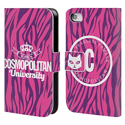 Official Cosmopolitan 1886 Zebra University Leather Book Wallet Case Cover For Apple iPhone 4 / 4S