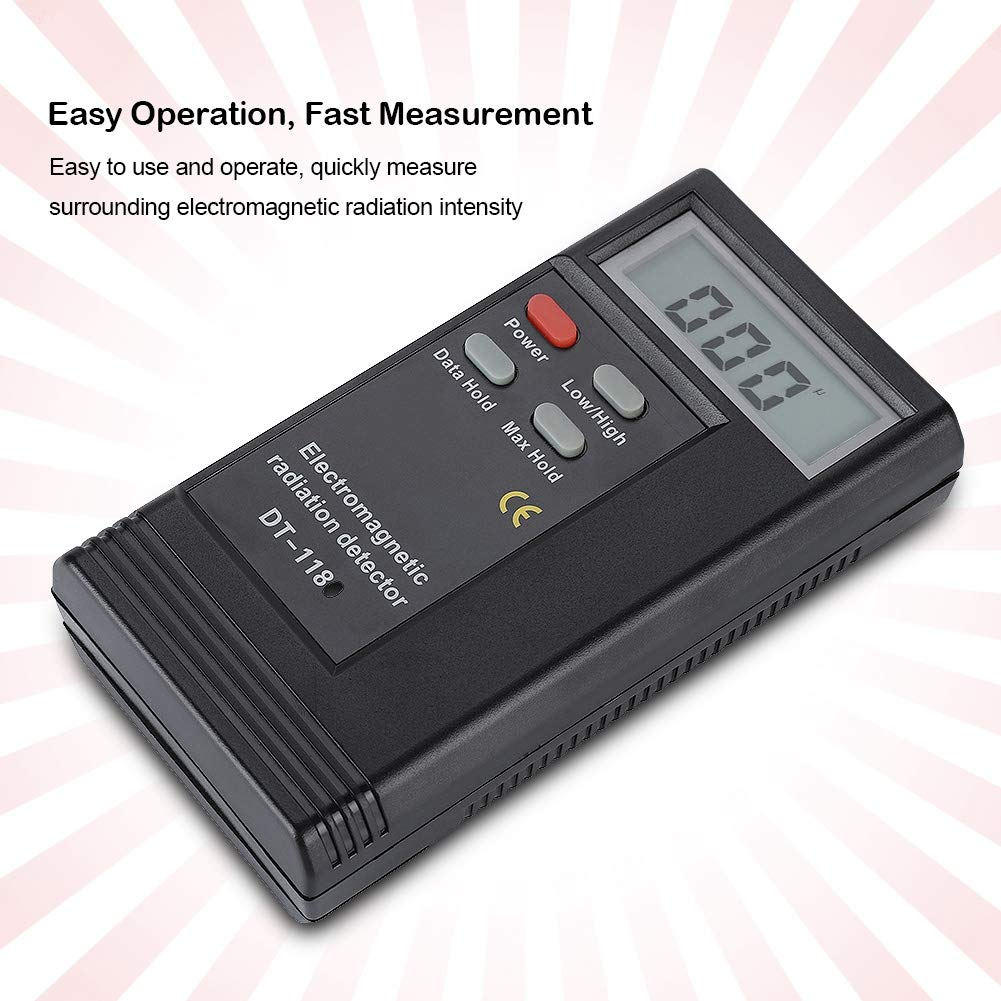 Fosa Dual Frequency Electric Magnetic Field Gauss Detector Handheld Mini Digital LCD EMF Detector Dosimeter Tester Counter Electromagnetic Field Radiation Detector