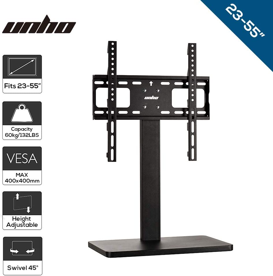 UNHO Pedestal Soporte Universal para TV de Altura Ajustable, Soporte de televisión para 26