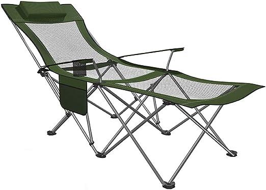 Sillas Camping, Silla Plegable para el Campamento con reposapiés ...