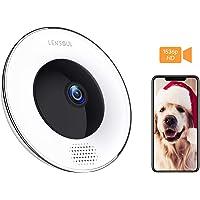 Telecamera Sorveglianza Wifi Camera IP 1536P Super Nitido Lensoul 360 ° Fisheye Videocamera di Sorveglianza interno con Audio Bidirezionale,Sensore di Movimento,Night Vision,Telecamera panoramica