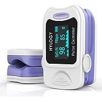 HYLOGY Pulsoximeter fingertopp blodsyremättnadsmätare med snabba avläsningar och LED-skärm för vuxna och barn med…