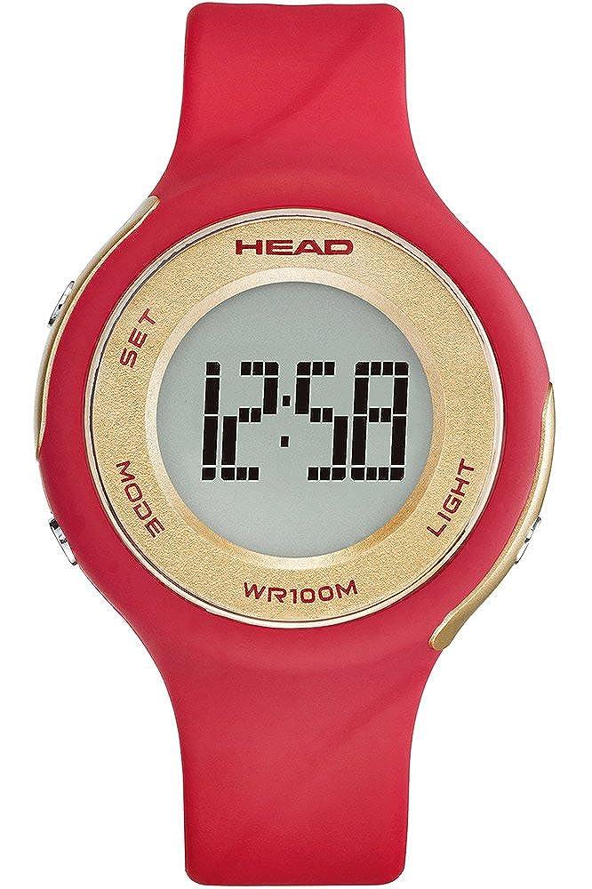 HEAD Reloj Digital para Mujer de Cuarzo con Correa en Caucho HE-107-03: Amazon.es: Relojes