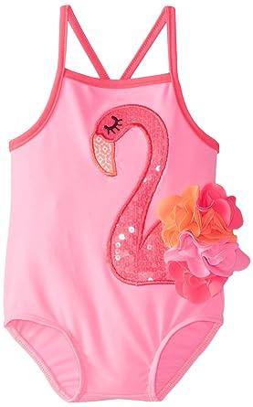 f24ea15c41 Amazon.com: Mud Pie Baby Girls' Flamingo Swimsuit: Clothing