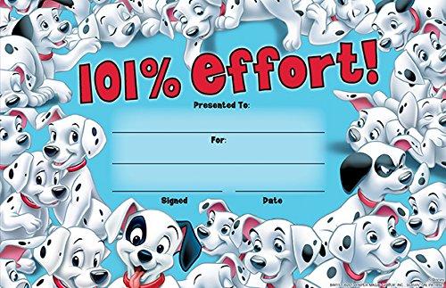 Eureka 101 Dalmatians 101% Effort Set of 36 Recognition Awards
