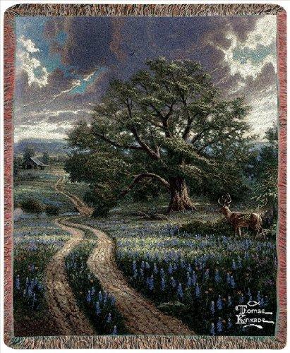 Manual Thomas Kinkade 50 x 60-Inch Tapestry Throw, Country Living