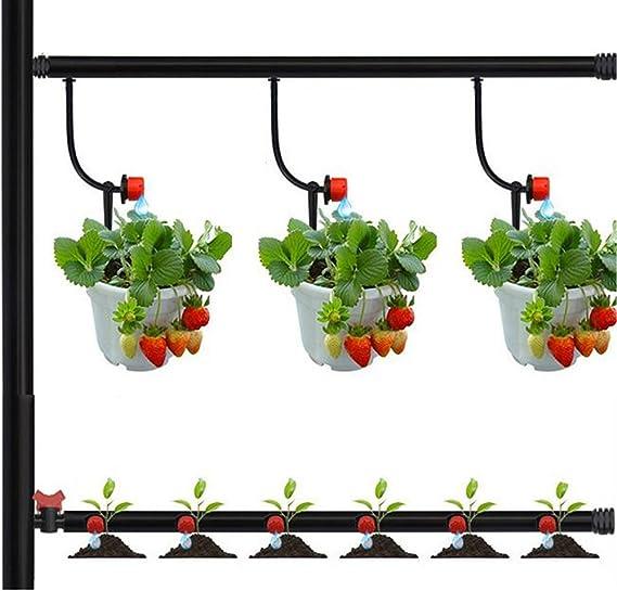 Goteador para sistemas de riego por goteo Chenci/® Sistema de riego autom/ático equipado con tubo Incluye 100 goteros Gocciolatore filtro y conectores de agua para jard/ín goteros v/álvula