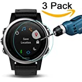 CAVN 3 Pcs Garmin Fenix 5S Screen Protector 9H Tempered Glassand High Definition Real Tempered Glass Screen Protector for Garmin Fenix 5S