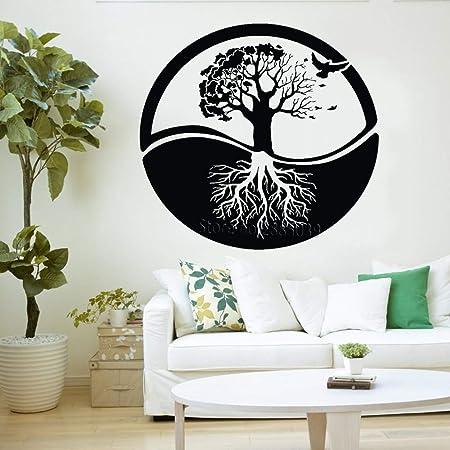 YuanMinglu Yoga Estilo Vida árbol Pared Arte Vinilo ...