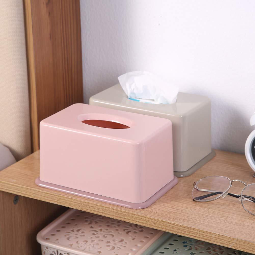 CAheadY Nordic Desktop Pumping Paper Contenitore per Salotto Tissue Holder Durable Organizer Pink
