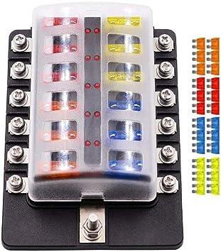 fuse box in boat amazon com fuse box holder 12 way blade fuse box holder with led  fuse box holder 12 way blade fuse box