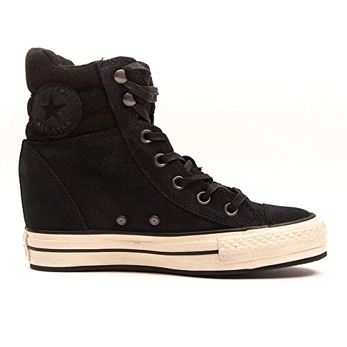 48feb218630 Converse Women s Chuck Taylor All Star Femme Burnished Platform Suede Hi  Trainers