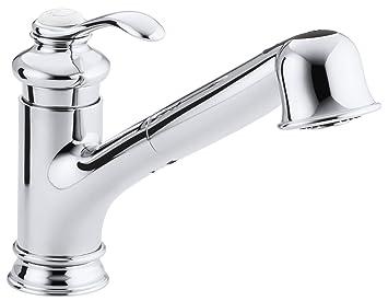 kohler k12177cp fairfax single control kitchen sink faucet polished chrome - Sink Faucets