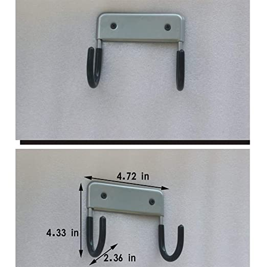 Trycooling Wall Mount Ironing Board Holder and Organizer 2 Strong Hooks Hold Ironing Board Wall Holder Wall Hanger Wall Mount Wall Rack Gray