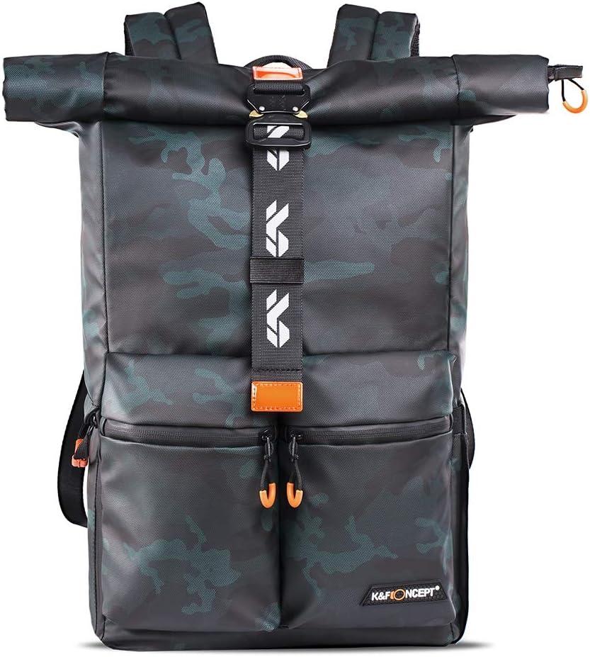 حقيبة ظهر للكاميرا، مقاومة للماء بكاميرا التصوير الفوتوغرافي مقاس 15 بوصة وحجرة كمبيوتر محمول لكاميرا SLR/DSLR وعدسة وملحقات مع غطاء المطر