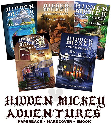 (Set of 5 HIDDEN MICKEY ADVENTURES - COLLECTOR PAPERBACK FIRST EDITION - novels about Walt Disney and Disneyland )